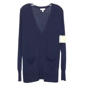 14th & Union Womens Cardigan Navy S Buttons NEW
